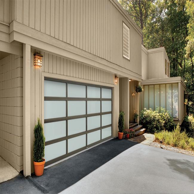 Aluminum Glass Panel Garage Door