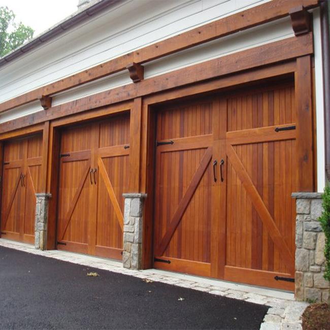 60 Residential Garage Door Designs Pictures: Modern Design Solid Wood Garage Door For Villas