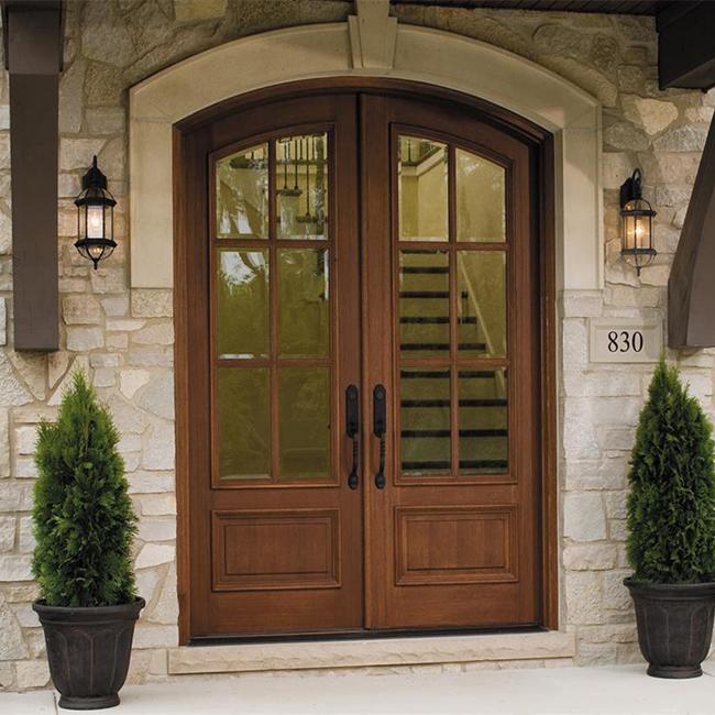 Solid Wood Double Entry Door