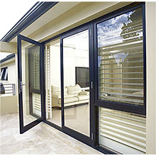 Modern french doors tempered glass swing door price