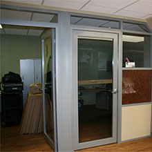 interior frameless double or single open swing glass door