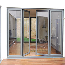 House used aluminium tempered glass swing open door order from china manufacture