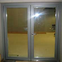 Anti- theft entrance main frame glass swing door stainless steel door