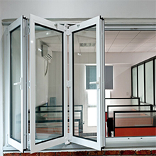Insulated Tempered Glass Bi Folding pvc Plastic Door Price