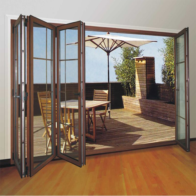 Commercial Double Glass Doors Interior Folding Door Price