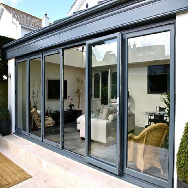 Thermal Break Aluminum Glass Sliding Stacker Glass Door